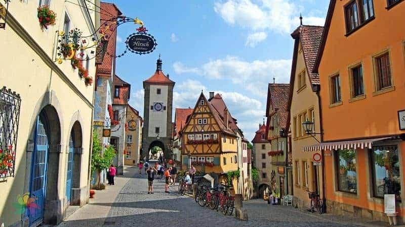romantik yol en güzel yer Rothenburg ob der Tauber