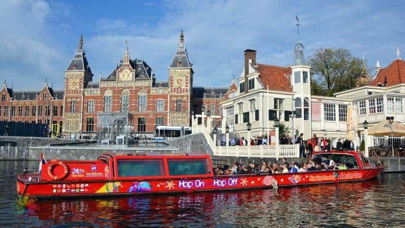 amsterdam gezi rehberi ulaşım, turistik otobüs ve tekneler