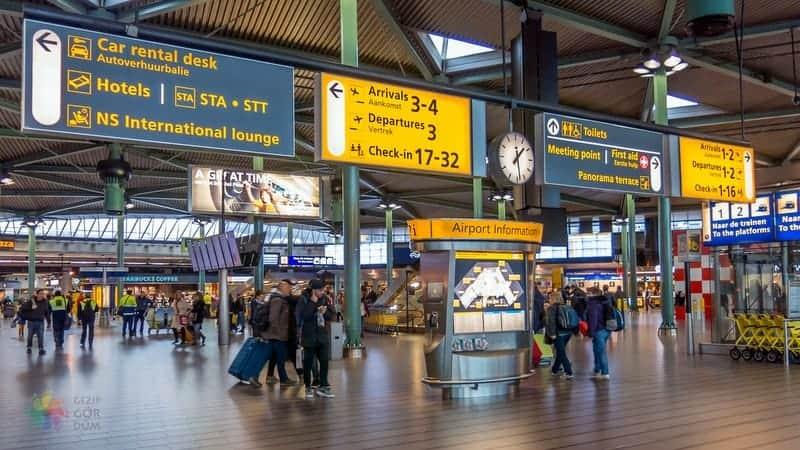 Amsterdam Havaalanı Şehir Merkezi Ulaşım