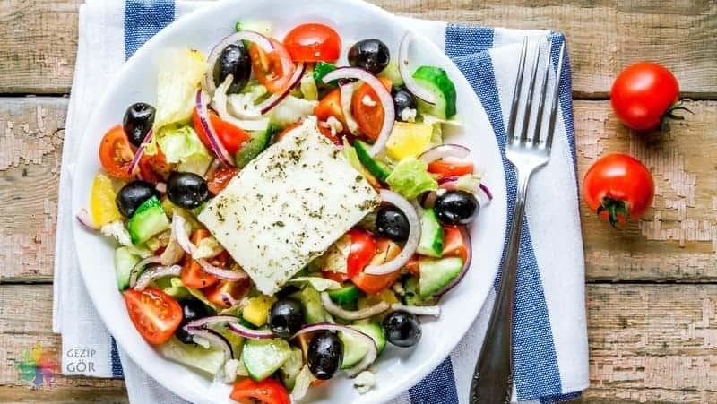 Atina yemekleri Yunan salatası
