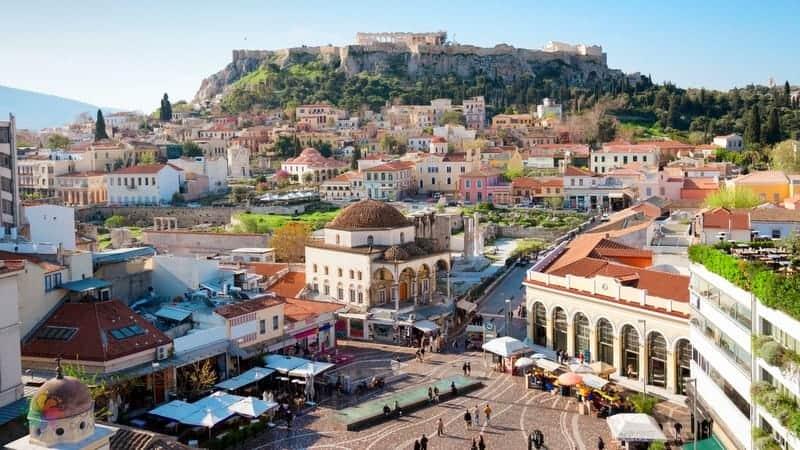 Atina'da konaklama yapılacak bölgeler