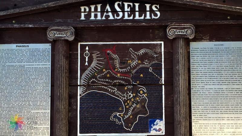 Faselis Antik Kenti yerleşim