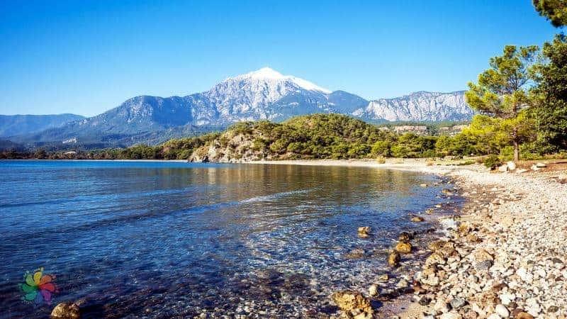 Faselis Antik Kenti Güney Liman denize girilecek yerler